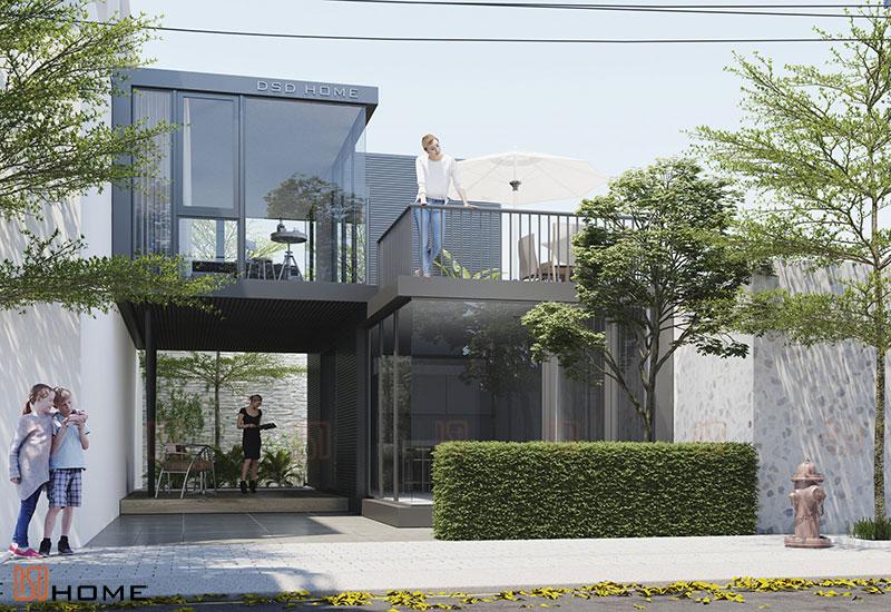 Nhà lắp ghép 64m2